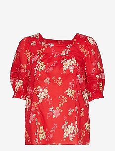 marvelously free blouse - RED TULIP