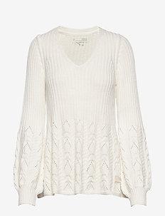 Stay Grounded V/Neck Sweater - pulls - light chalk