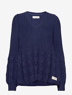 Stay Grounded V/Neck Sweater - pulls - stormy blue