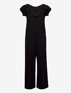 Frill Up Jumpsuit - buksedragter - almost black
