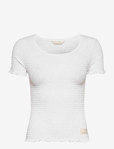 Alluring Smock T-shirt - t-shirty - bright white