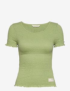 Alluring Smock T-shirt - t-shirts - garden green