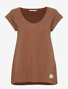 Power Sleeve Tee - t-shirts - coconut brown