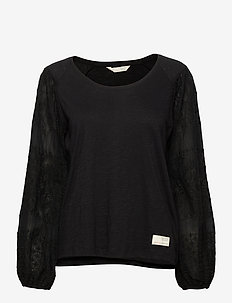 Swagy Long Sleeve Top - topy z długimi rękawami - almost black