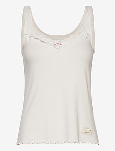 Not Giving In Tank Top - hauts sans manches - light chalk