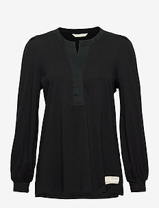 Power Sleeve Top - blouses à manches longues - almost black