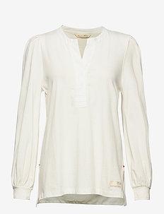 Power Sleeve Top - blouses à manches longues - light chalk