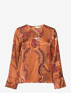 Still Smiling Blouse - blouses à manches longues - coconut brown