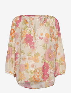 Run With The Sun Blouse - long sleeved blouses - cactus flower
