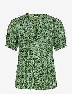 Soul Of Sunshine Blouse - blouses à manches courtes - green jade