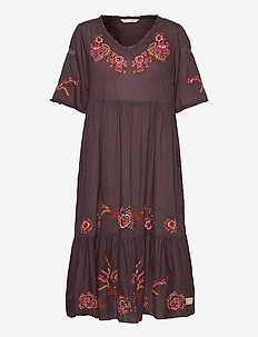 Free The Flower Dress - brown ash
