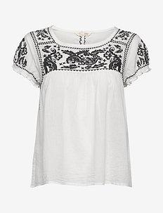 Mariah S/S Blouse - blouses à manches courtes - light chalk