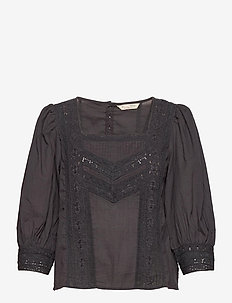 Laura Blouse - blouses à manches courtes - asphalt