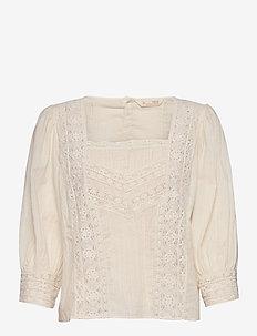 Laura Blouse - blouses à manches courtes - light porcelain