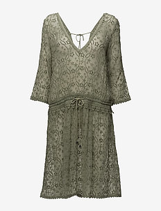 recreation dress - midi kjoler - soft green