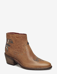 drop dead dazzling low boot - BROWN