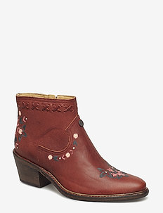 drop dead dazzling low boot - RED BROWN