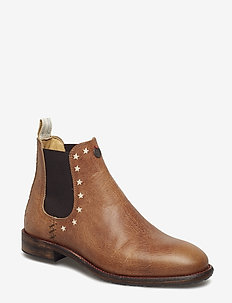 mollyhood low leather boot - BROWN