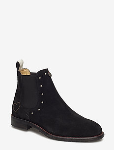 mollyhood low suede boot - ALMOST BLACK