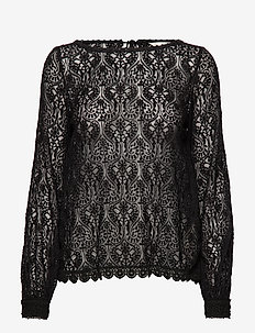 The Perfect Piece Blouse - ALMOST BLACK