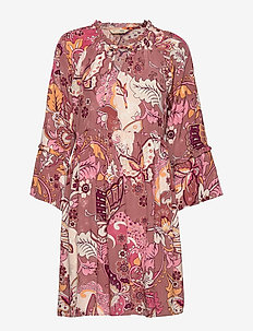 Puzzle Me Together Dress - RED TAUPE