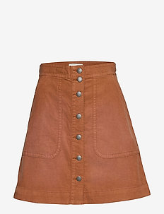 Living All The Way Skirt - GOLDEN BROWN