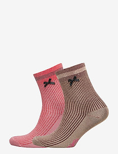 Sparkly Sock - RED BROWN