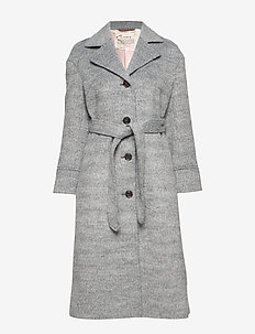 Lengthy Beaut Coat - manteaux en laine - light grey melange