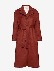 Lengthy Beaut Coat - RUSSET BROWN