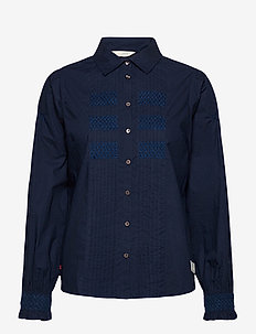 Edith Shirt - chemises à manches longues - deep navy