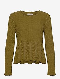 Maureen Sweater - pulls - burned olive