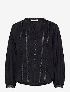 Rachelle Blouse - blouses med lange mouwen - almost black