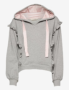 Paulina Hood Sweater - pulls à capuche - light grey melange