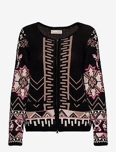 Florence Cardigan - gilets - almost black
