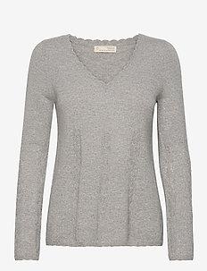Quinn Sweater - pulls - grey melange