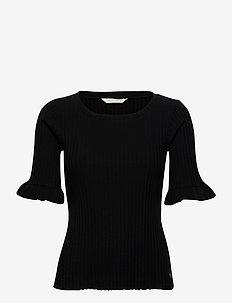 Liza Top - t-shirts - almost black