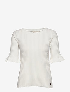 Liza Top - t-shirts - light chalk