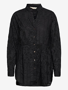 Vivian Shirt - blouses med lange mouwen - almost black