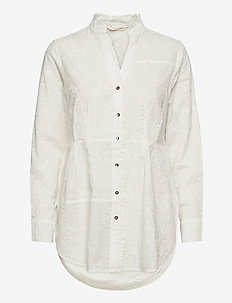Vivian Shirt - blouses med lange mouwen - light chalk