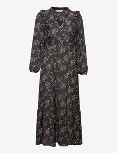 Kiera Dress - maxi kjoler - asphalt