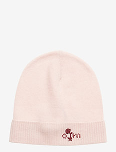 warm and vivid beanie - SHEER PINK