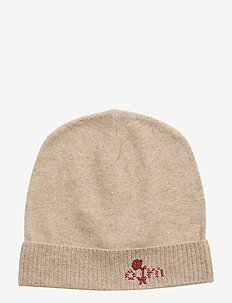 warm and vivid beanie - TAN