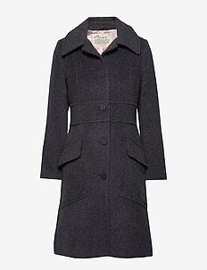 Wool Hello There Coat - ASPHALT