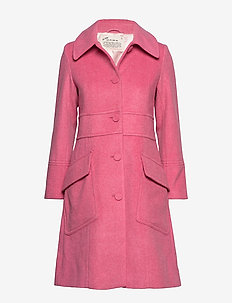 Wool Hello There Coat - GLOWY PINK