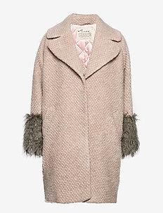 Rare & Free Coat - wool coats - peach sand