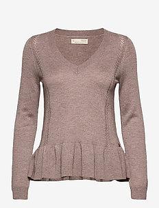 Aurora Sweater - pullover - brown oak