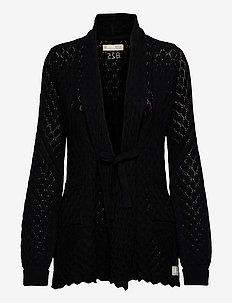 Skylar Cardigan - gilets - almost black