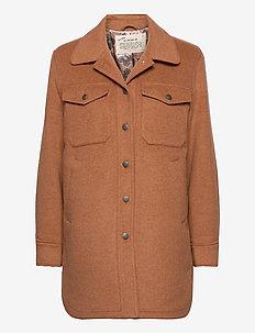 Stella Shirt Jacket - overshirts - brown mocha