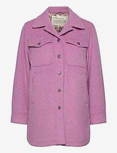 Stella Shirt Jacket - overshirts - smokey purple