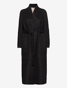 Luna Coat - manteaux en laine - almost black